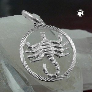 Pendentif Zodiac argent scorpion 925 Krossin bijoux en argent 91011x