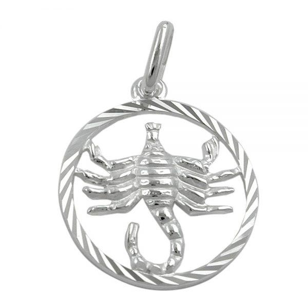 Pendentif Zodiac argent scorpion 925 Krossin bijoux en argent 91011xx