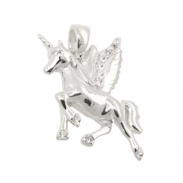 Pendentif aile chevaux licorne argent 925 Krossin bijoux en argent 93812xx
