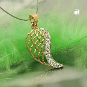 Pendentif aile d un ange en or 9 carats Krossin bijoux or 431403x