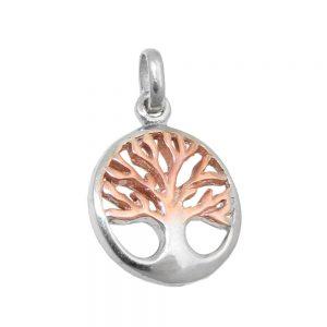 Pendentif arbre dargent bicolore vivant 925 Krossin bijoux en argent 93588xx