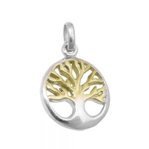 Pendentif arbre dargent bicolore vivant 925 Krossin bijoux en argent 93739xx