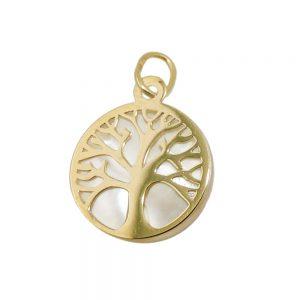 Pendentif arbre de vie avec perle 9k or 431470xx