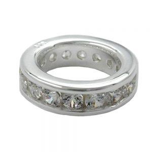 Pendentif bague baptismale Zircon cubique argent 925 Krossin bijoux en argent 90862xx