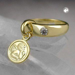 Pendentif bebe bapteme 9k or Krossin bijoux or 430878x