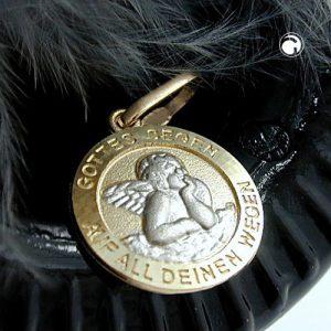 Pendentif bebe bapteme or 9kt Krossin bijoux or 430760x