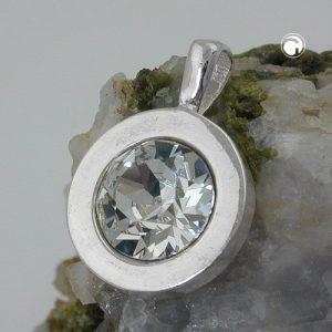 Pendentif blanc verre pierre argent 925 Krossin bijoux en argent 94079x