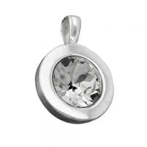 Pendentif blanc verre pierre argent 925 Krossin bijoux en argent 94079xx