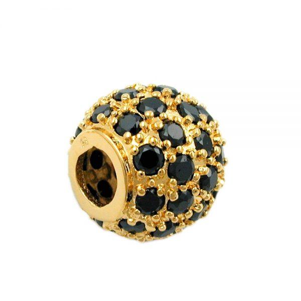 Pendentif boule avec zircon plaque or 3 microns 30239xx