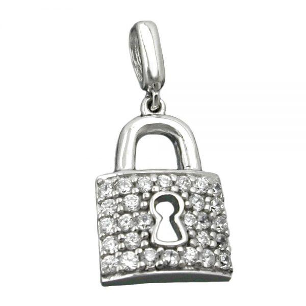 Pendentif cadenas argent 925 Krossin bijoux en argent 90492xx