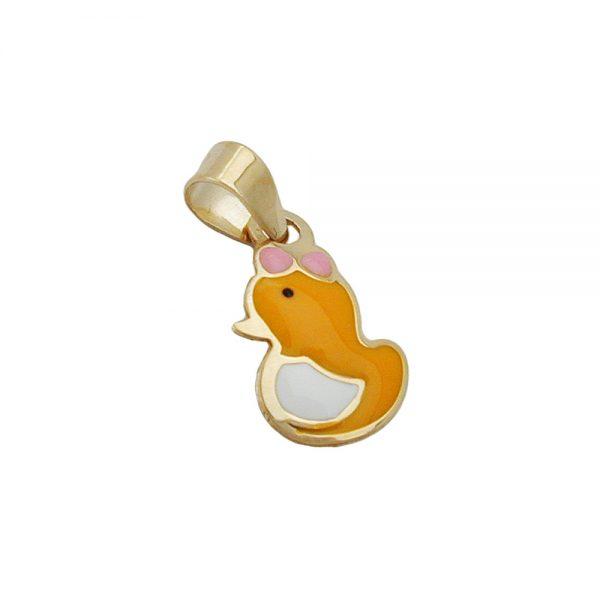 Pendentif canard en or 9 carats 431022xx