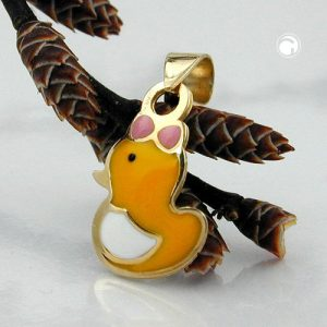 Pendentif canard en or 9 carats Krossin bijoux or 431022x
