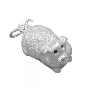 Pendentif chanceux cochon argent 925 Krossin bijoux en argent 90899xx