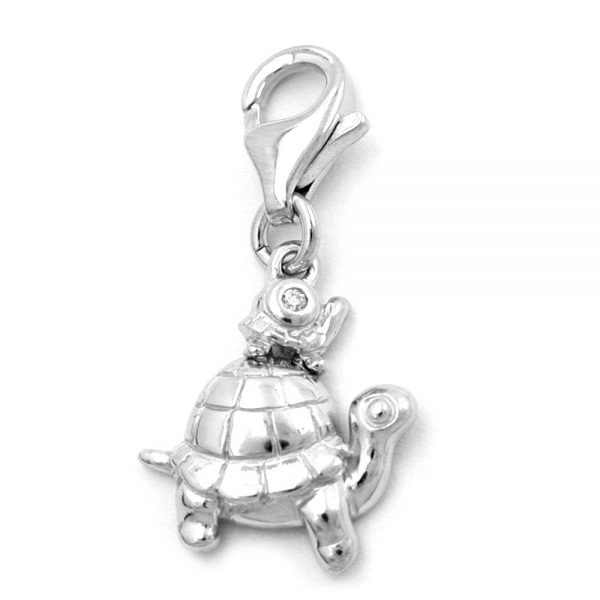 Pendentif charme tortues argent 925 Krossin bijoux en argent 93294xx