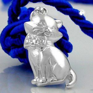Pendentif chat argent 925 Krossin bijoux en argent 93241x