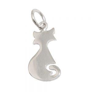 Pendentif chat icone en argent poli 925 Krossin bijoux en argent 93545xx