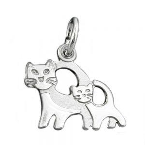Pendentif chats argent 925 Krossin bijoux en argent 90432xx