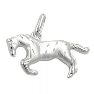 Pendentif cheval brillant argent mat 925 Krossin bijoux en argent 90529xx