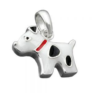 Pendentif chien avec des points argent 925 Krossin bijoux en argent 91566xx