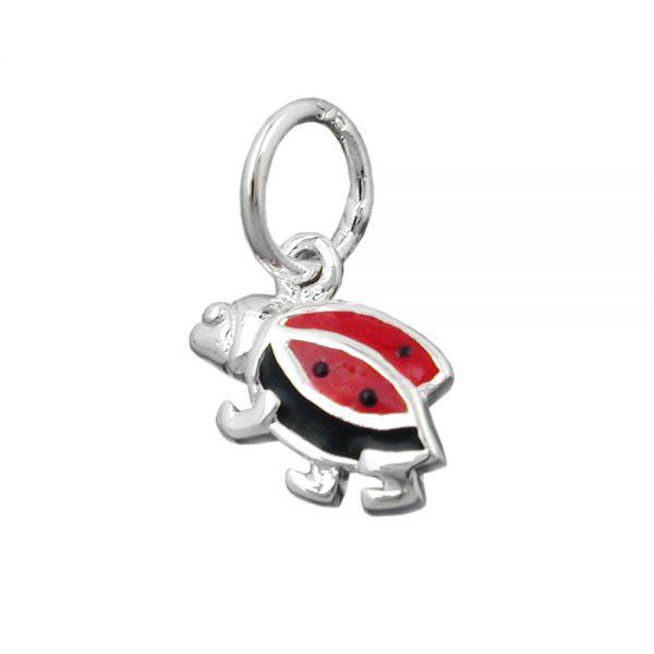 Pendentif coccinelle rouge noir argent 925 Krossin bijoux en argent 91118xx