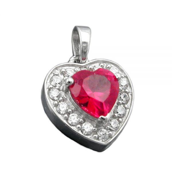Pendentif coeur Zircon cristaux argent 925 Krossin bijoux en argent 93345xx