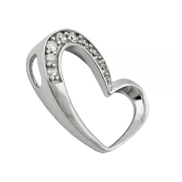Pendentif coeur Zircon elements argent 925 Krossin bijoux en argent 93282xx
