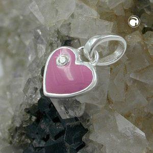 Pendentif coeur Zircon rose argent 925 Krossin bijoux en argent 93112x