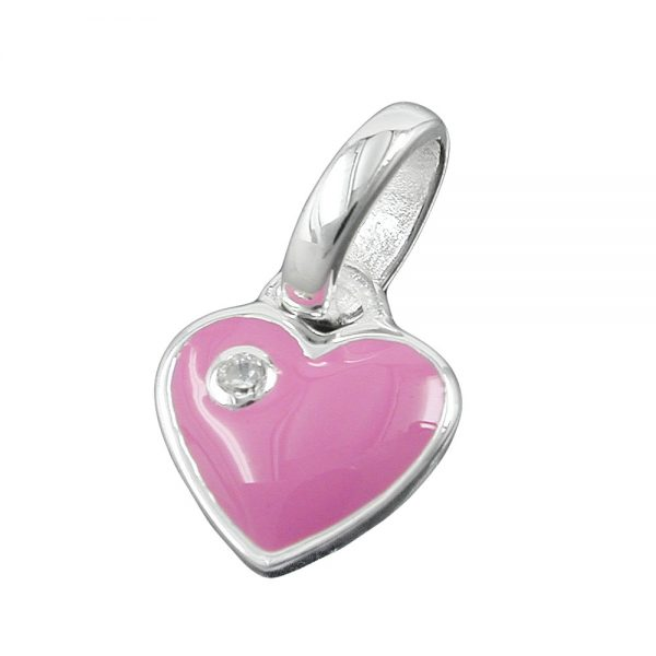 Pendentif coeur Zircon rose argent 925 Krossin bijoux en argent 93112xx