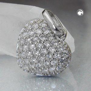 Pendentif coeur Zircons argent 925 Krossin bijoux en argent 94084x