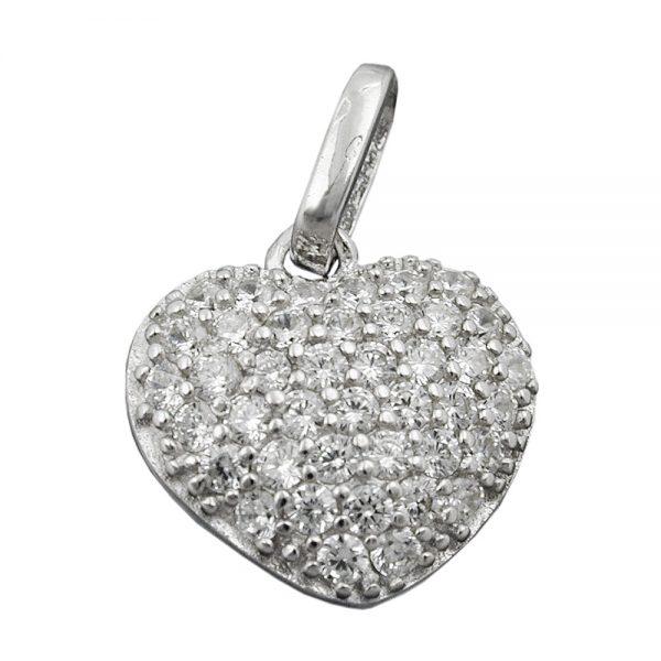 Pendentif coeur Zircons argent 925 Krossin bijoux en argent 94084xx