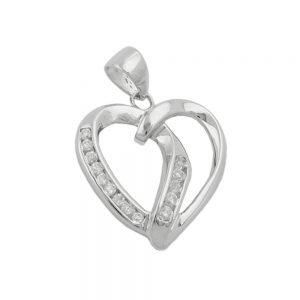 Pendentif coeur argent 925 Krossin bijoux en argent 91261xx
