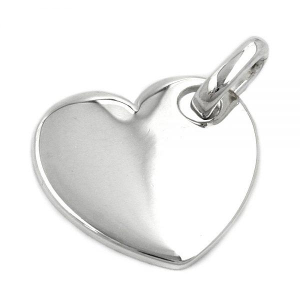Pendentif coeur argent poli 925 Krossin bijoux en argent 92700xx