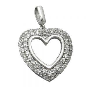 Pendentif coeur avec Zircon argent 925 Krossin bijoux en argent 90574xx