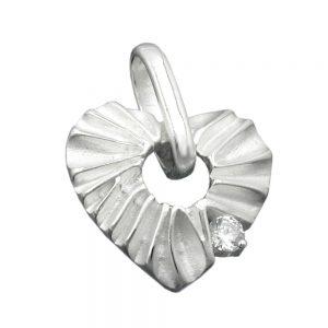 Pendentif coeur avec Zircon argent 925 Krossin bijoux en argent 91805xx