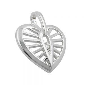 Pendentif coeur avec Zircon argent 925 Krossin bijoux en argent 91997xx