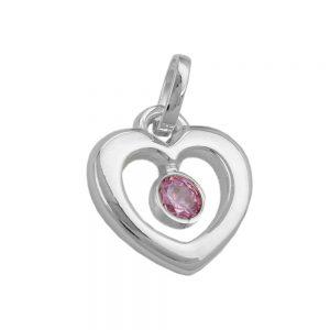Pendentif coeur avec Zircon argent 925 Krossin bijoux en argent 92340xx