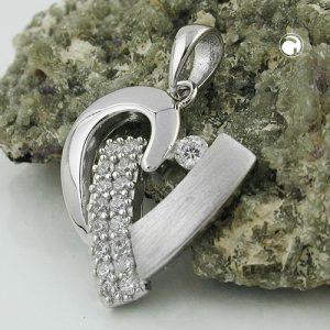 Pendentif coeur avec Zircon argent 925 Krossin bijoux en argent 93428x