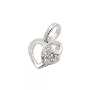 Pendentif coeur avec Zircon argent 925 Krossin bijoux en argent 93499xx