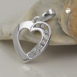 Pendentif coeur avec Zircon argent 925 Krossin bijoux en argent 93629x