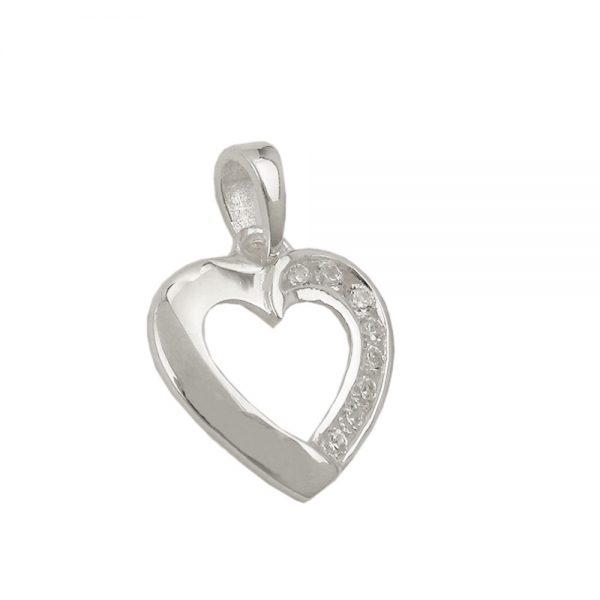 Pendentif coeur avec Zircon argent 925 Krossin bijoux en argent 93629xx