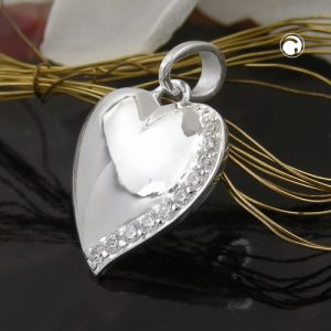 Pendentif coeur avec Zircon argent 925 Krossin bijoux en argent 93630x
