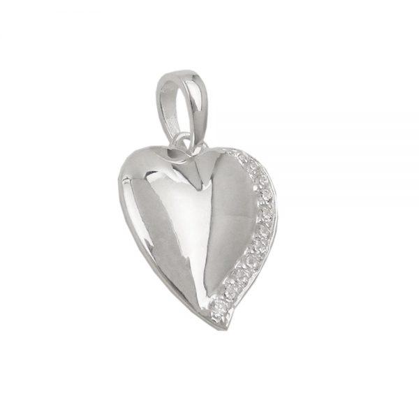 Pendentif coeur avec Zircon argent 925 Krossin bijoux en argent 93630xx