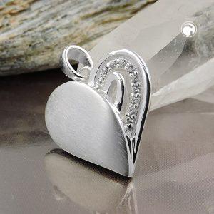 Pendentif coeur avec Zircon argent 925 Krossin bijoux en argent 93726x