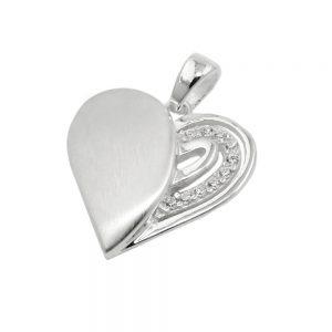 Pendentif coeur avec Zircon argent 925 Krossin bijoux en argent 93726xx