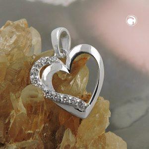 Pendentif coeur avec Zircon argent 925 Krossin bijoux en argent 93727x