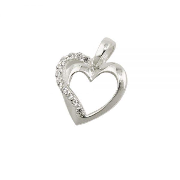 Pendentif coeur avec Zircon argent 925 Krossin bijoux en argent 93727xx