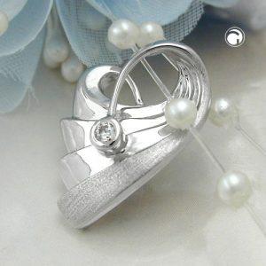 Pendentif coeur avec Zircon argent 925 Krossin bijoux en argent 94033x