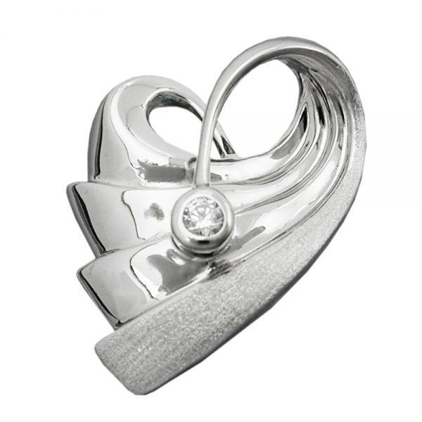 Pendentif coeur avec Zircon argent 925 Krossin bijoux en argent 94033xx
