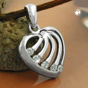 Pendentif coeur avec Zircons argent 925 Krossin bijoux en argent 94020x