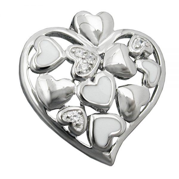 Pendentif coeur avec Zircons argent 925 Krossin bijoux en argent 94027xx